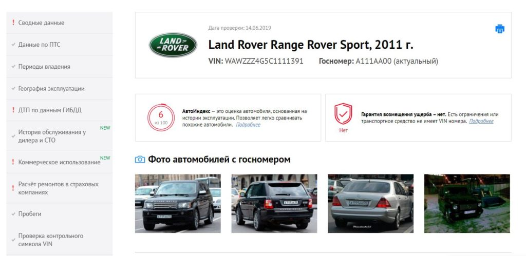 Отчёт авто